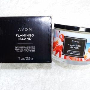 AVON Flamingo Island Candle 11oz Fruit Scent